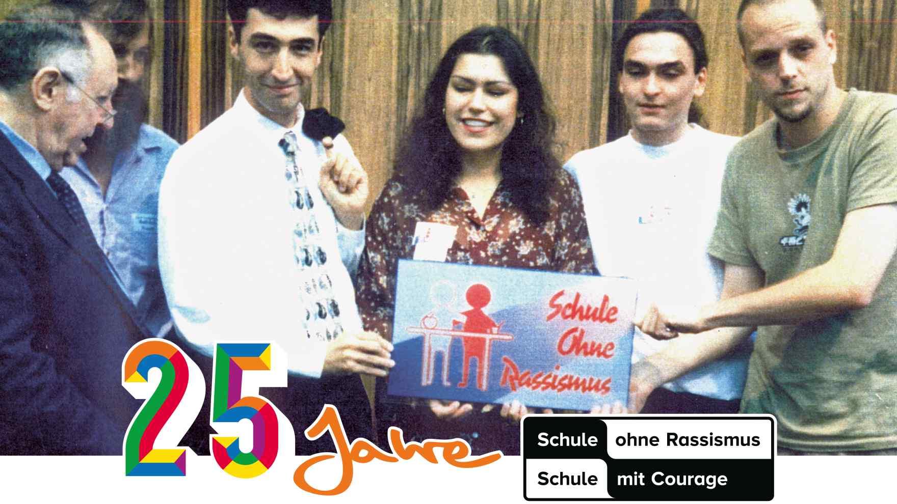 Ignatz Bubis, Cem Özdemir und Smudo stellen 1995 das Projekt