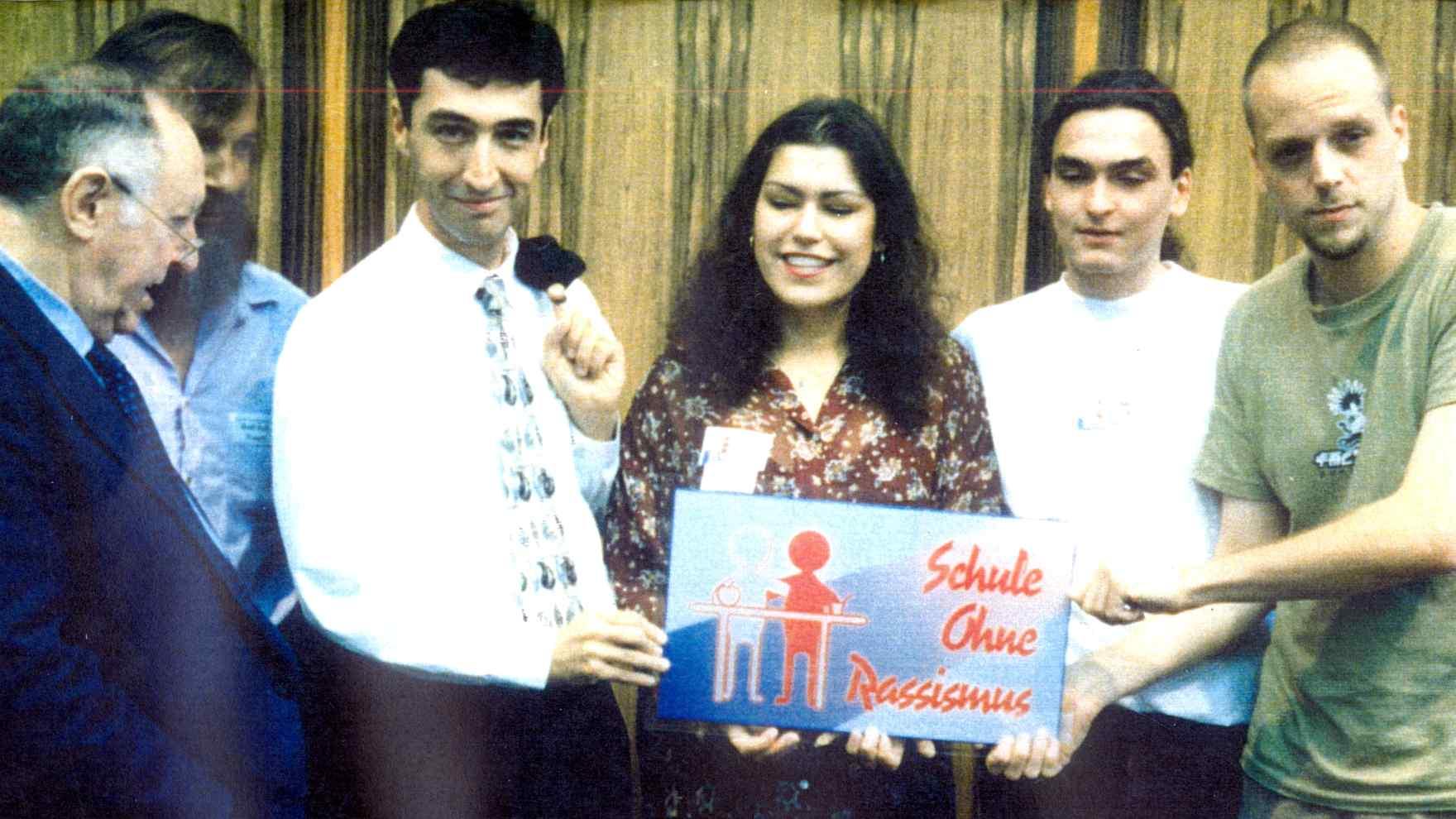 Pressekonferenz 1995 mit Bubis